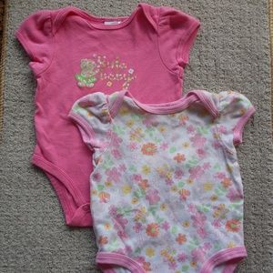 Other - Set of 2 Adorable Baby Girl Onesies  6 M